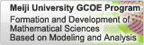 Meiji University GCOE Program: Formation and Development of Mathematical Sciences Based on Modeling and Analysis